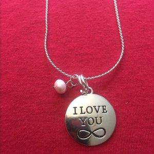 "Jewelry - ""I love you"" ❤️ charm necklace (18"" long)"